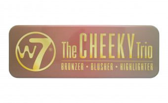 W7 The Cheeky Trio Bronzer Blusher & Highlighter Powder Tin