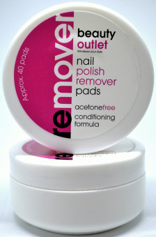 Beauty Outlet | Beauty Outlet Nail Polish Remover Pads | Nail Polish ...