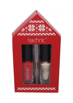 Christmas Novelty Stocking Filler Red and Gold Polish