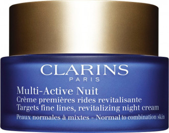 Clarins Multi-Active Night Cream Targets Fine Lines Revitalising Normal To Combination Skin 50ml