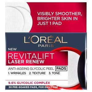 LOreal Revitalift Laser Anti-Age Glycolic Peel Pads