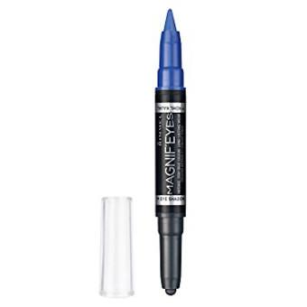 Rimmel Magnifeyes Pen + Eye Liner Eyeshadow Dark Side Of Blue 004
