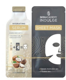 Skin Academy Hydrating Serum Sheet Mask Enriched With Coconut Oil & Shea Butter