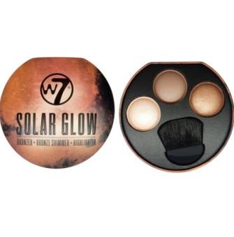 W7 Solar Glow Bronzer Bronze Shimmer & Highlighter