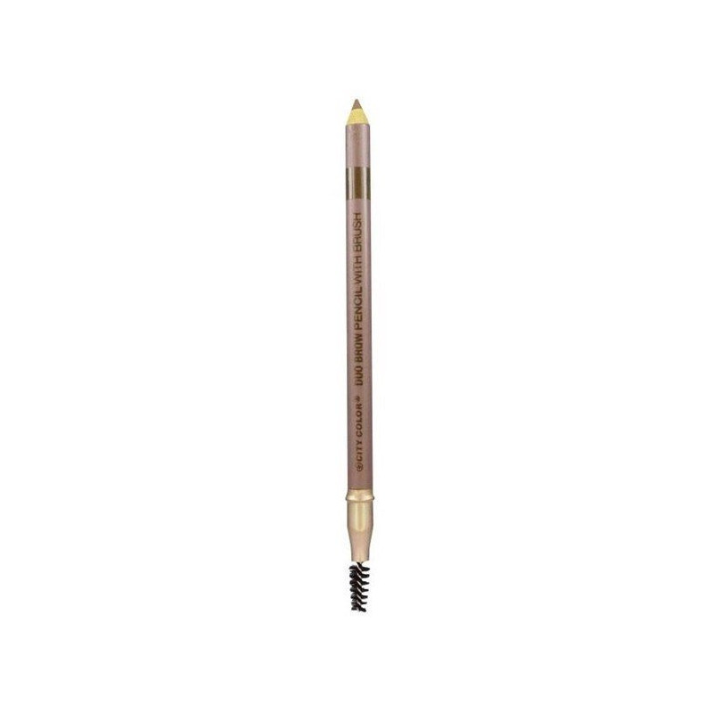 City Color Duo Brow Pencil With Brush Blonde