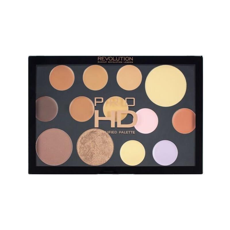 Revolution Pro HD Amplified 35 Eyeshadow Palette The Works Medium Dark